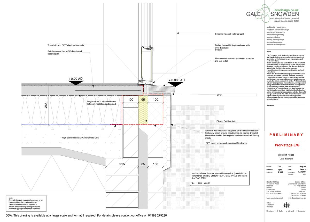 Granite Hewn Victorian Home Upgraded To Phi Low Energy Standard H 265 Block Diagram Extension Door Threshold Detail
