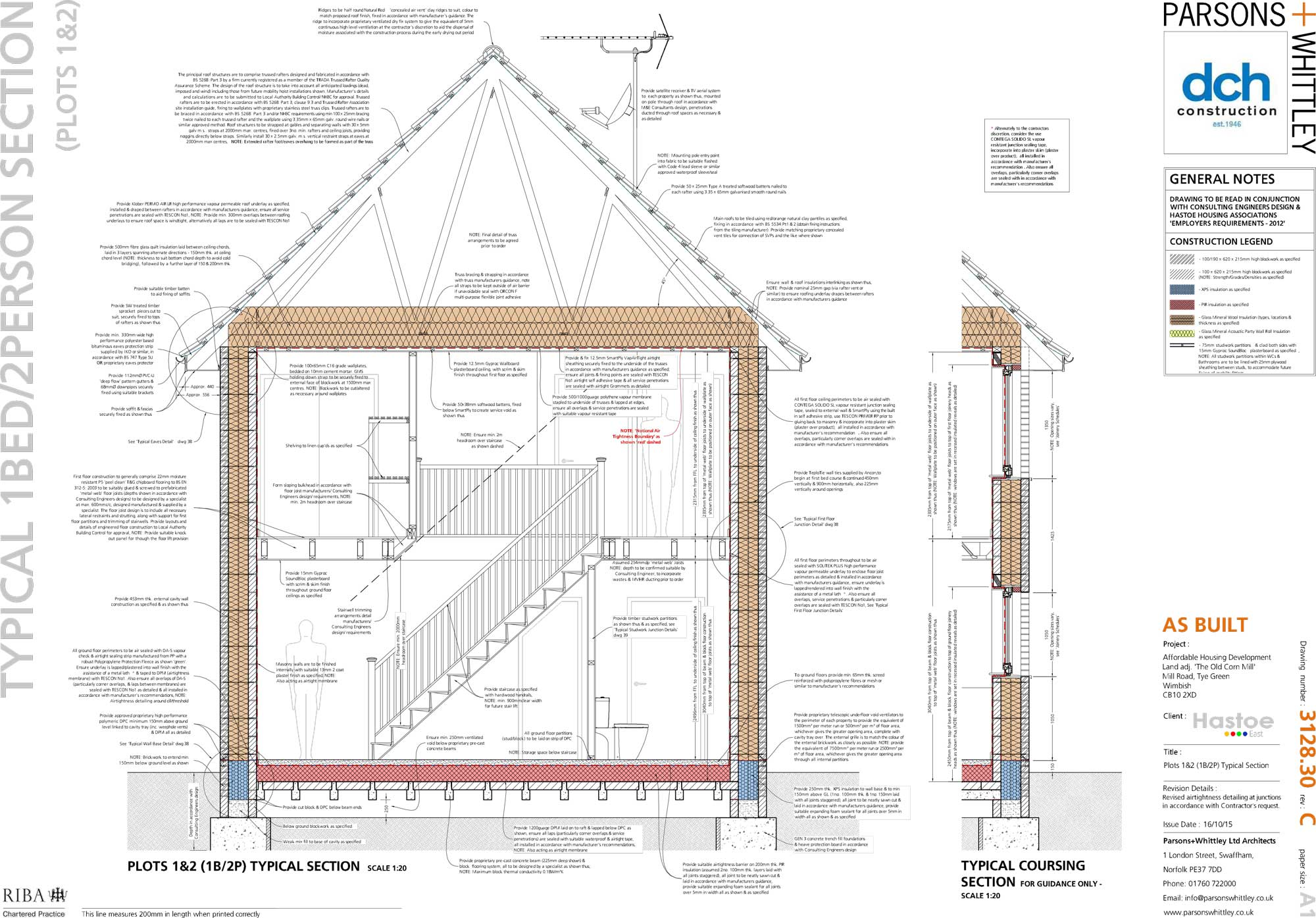 Essex Village Becomes Eco Pioneer With Latest Passive House Scheme Typicalonelinesinglelinediagramjpg Click To Enlarge Image Plot 1 And 2 Typical Sections
