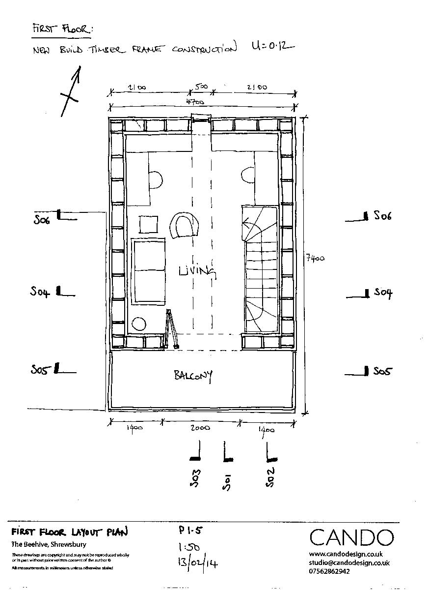 From Derelict Shop To Tiny Low Energy Home International 7400 Air Tank Schematic Click Enlarge Image First Floor Layout Plan