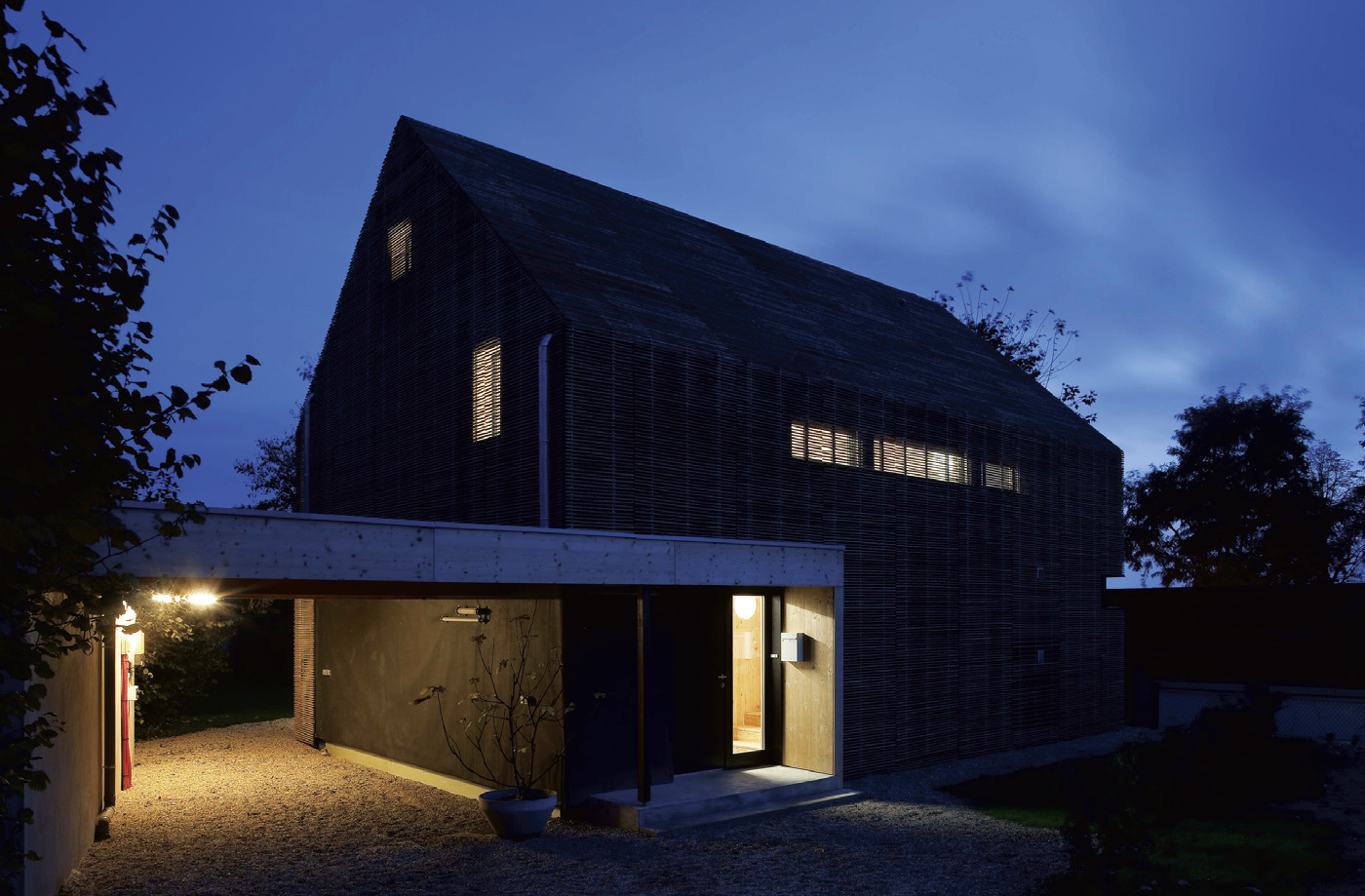 Glazing in the Bessancourt passive house is limited on the north face