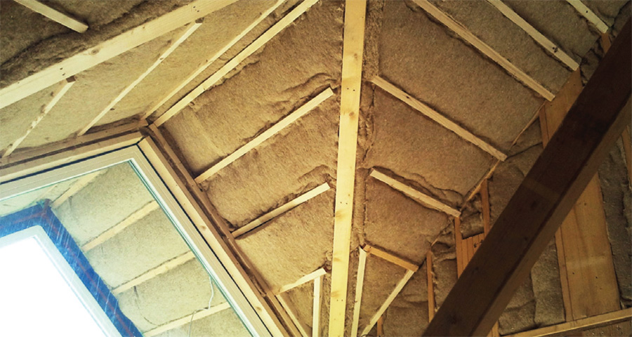 Thermo-Hemp insulation installed in the pitched roof