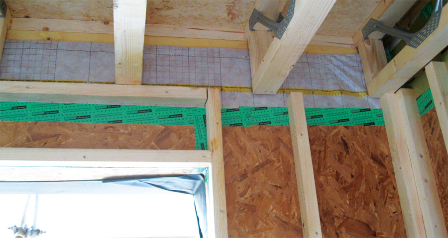 Metal web joists create neat runs for MVHR ducting