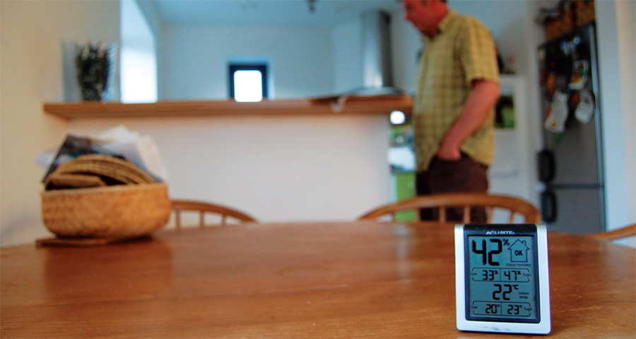 The house's humidity and temperature sensor
