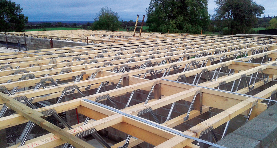 Metal web joists create smooth and neat runs for services
