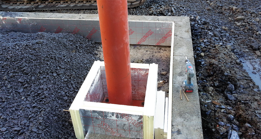 Xtratherm used to insulated upstands