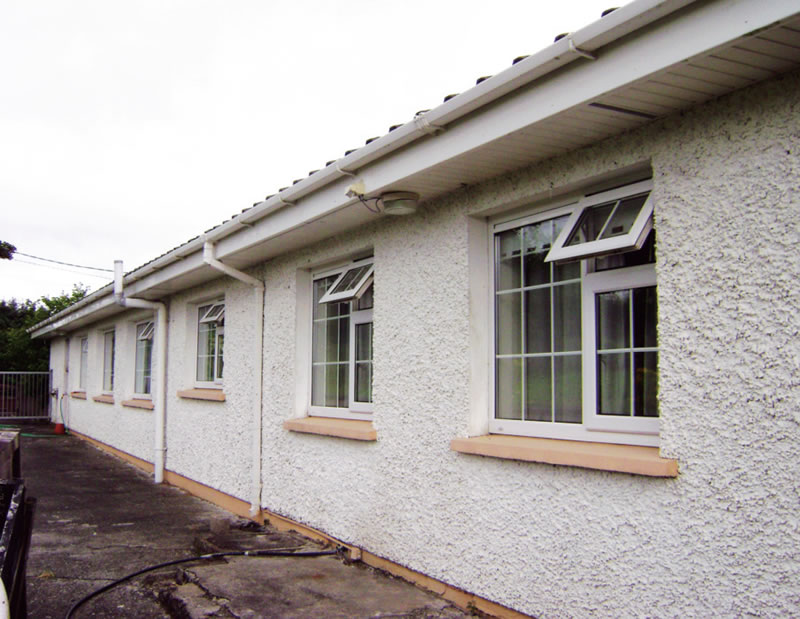 The new triple-glazed windows were moved out to be flush with the original outer leaf, and then the external insulation was installed, as shown in these before and after photos