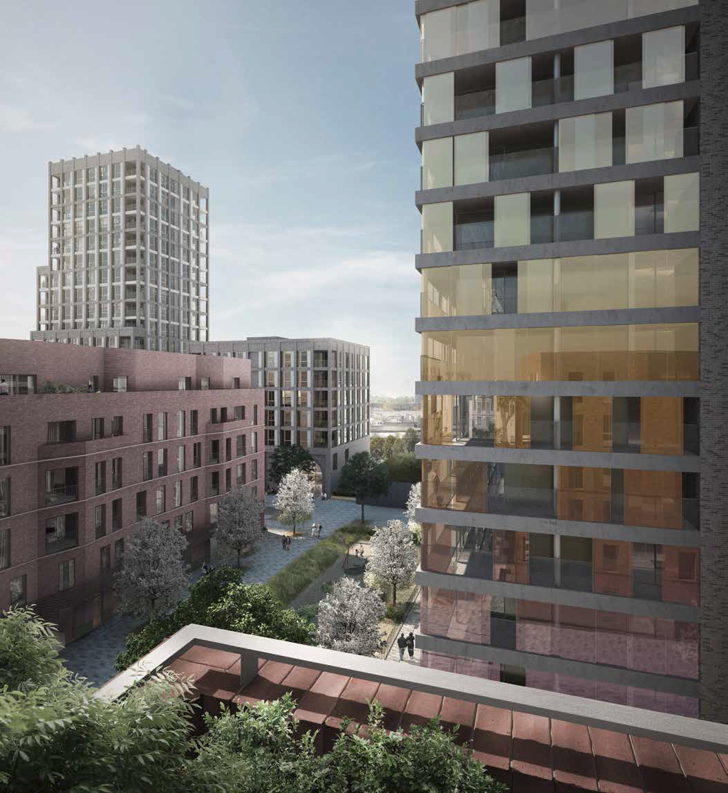 The Agar Grove development of 350 passive house dwellings in Camden, north London, will feature a communal heating system