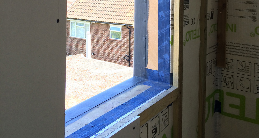 Airtightness detailing around windows