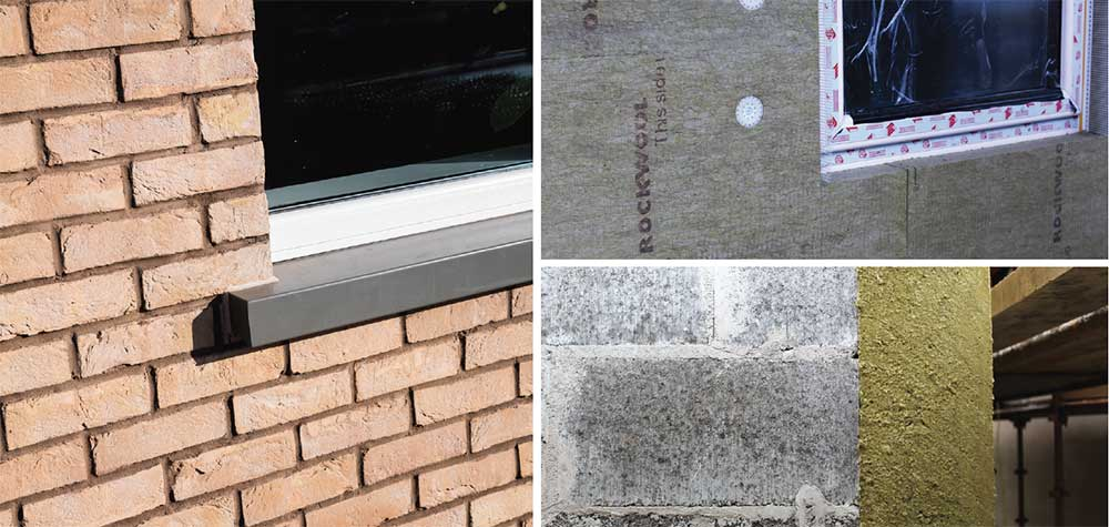 (Above) The houses are constructed of single leaf hollow block walls finished outside with Rockwool's REDArt Silicone and BrickShield external insulation systems, including 200mm Rockwool semi-rigid insulation.