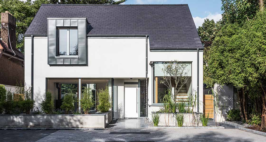A1 passive house overcomes tight cork city site Kitchen design cork city