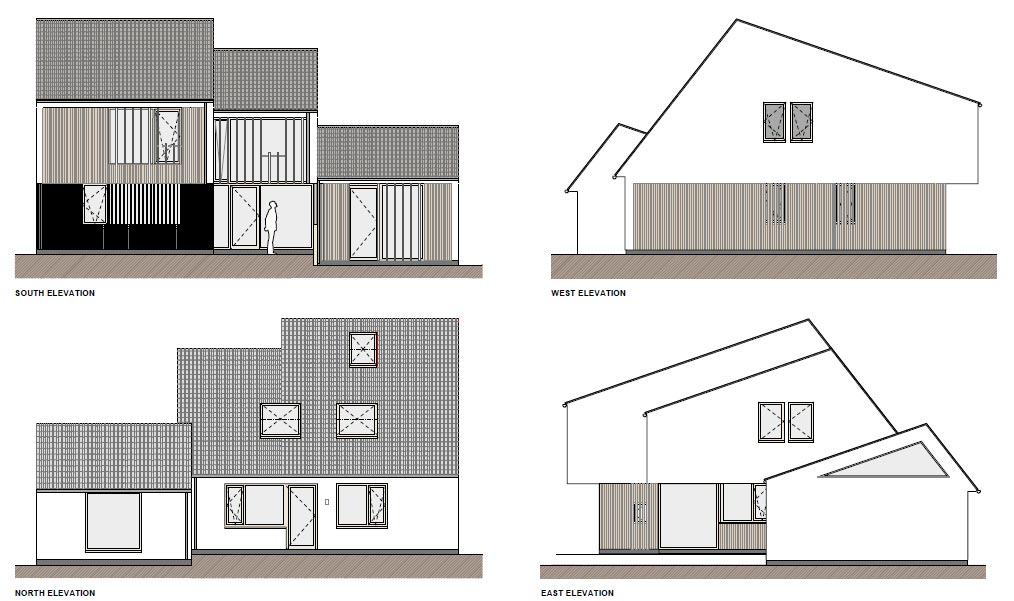 South Dublin passive house Elevations