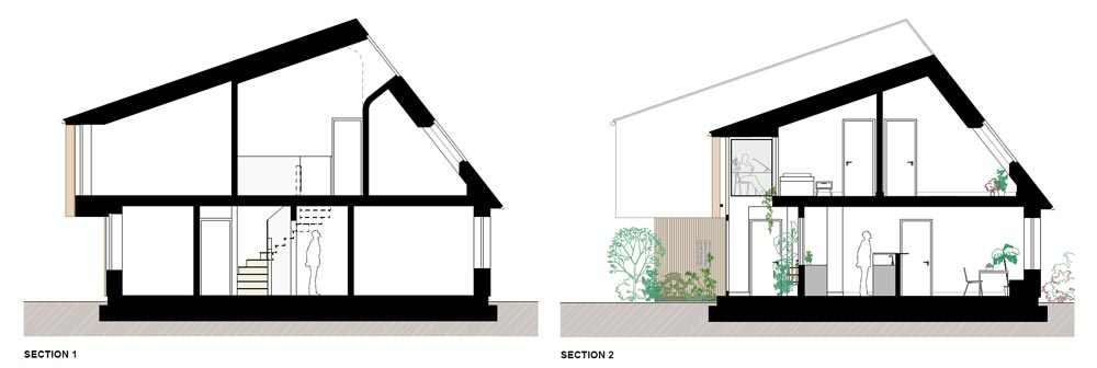 South Dublin passive house Sections