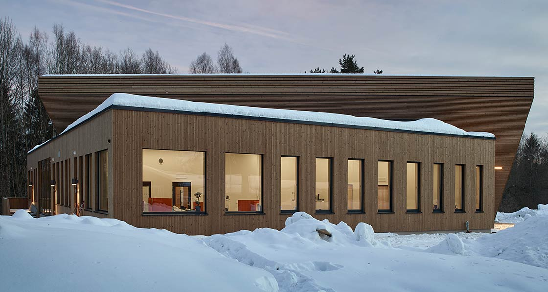 Powerhouse Drøbak, a new Montessori school built to the ambitious standard that opened earlier this year