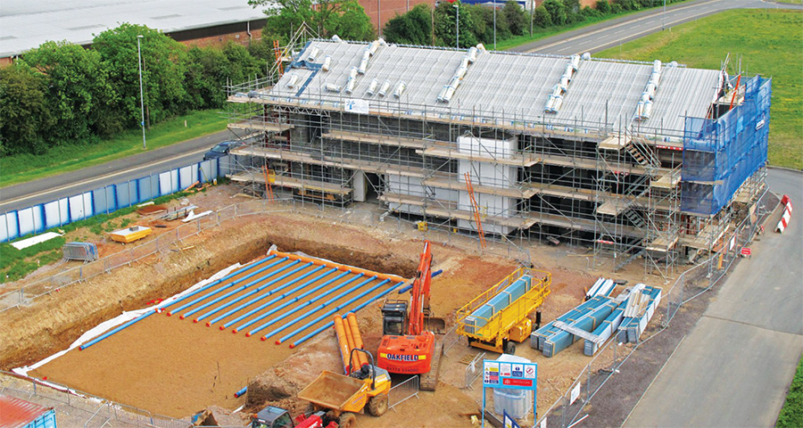 The building's pitched roof was insulated with 340mm of Earthwool FactoryClad rolls, giving a U-value of 0.14.