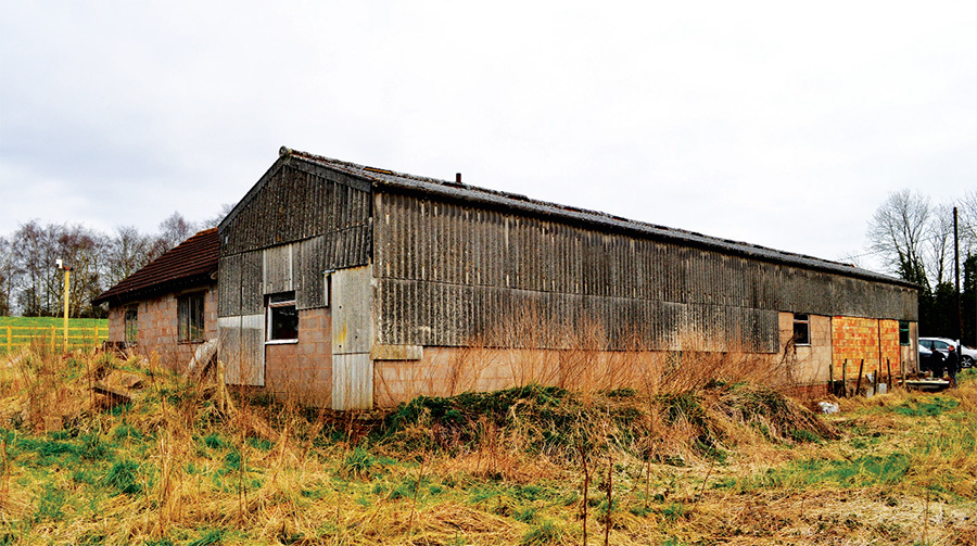The old asbestos-clad shed which was retrofitted to the Enerphit standard