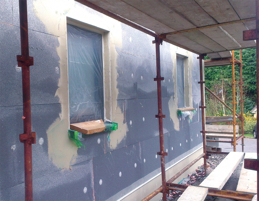 The walls were externally insulated with platinum EPS