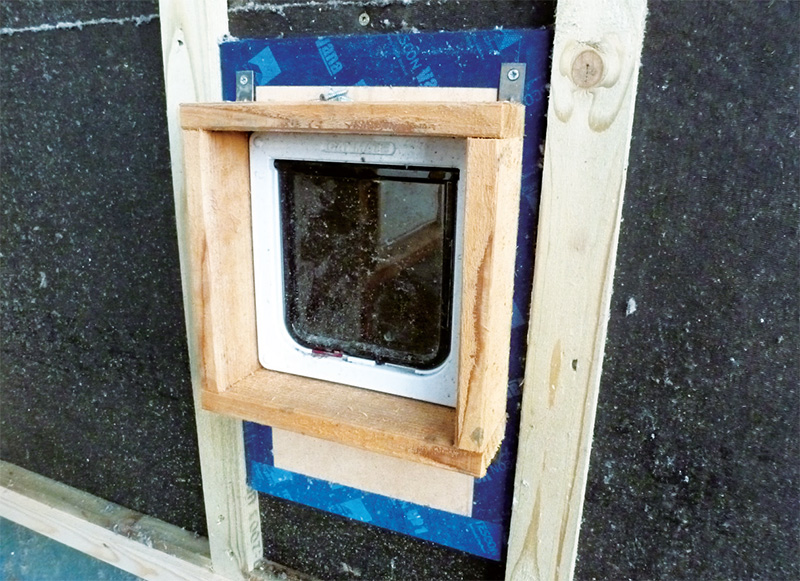 An airtight catflap, built by the client for just £25