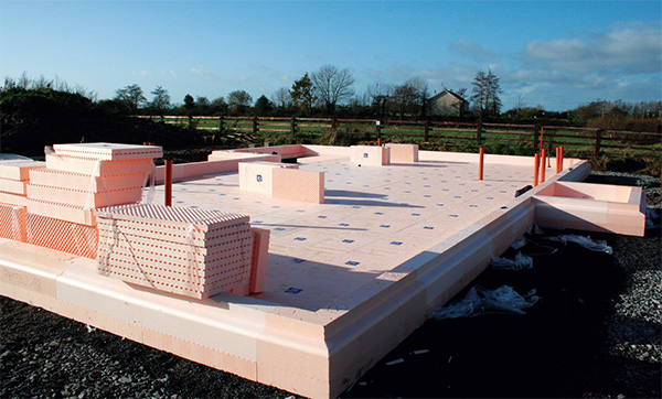 The Isoquick insulated raft foundation