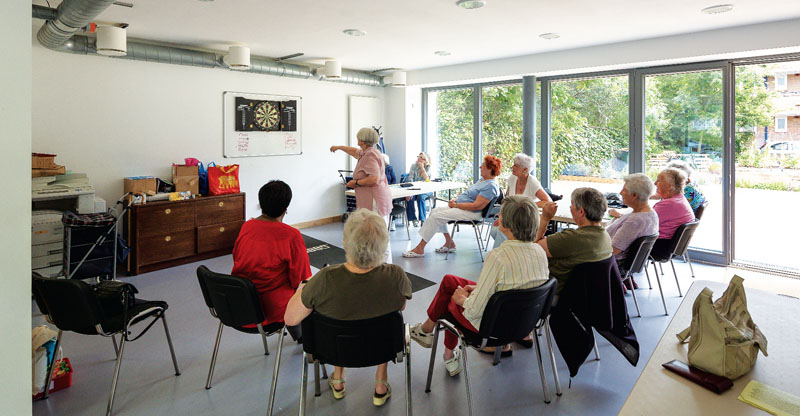 The renovated centre allows members of the community to meet and socialise in a comfortable environment