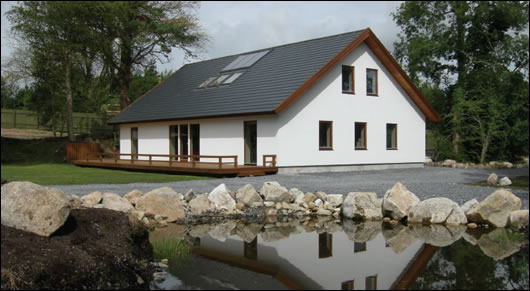 Ireland's first pre engineered Passive House, built by Scandinavian Homes in Moycullen in 2005
