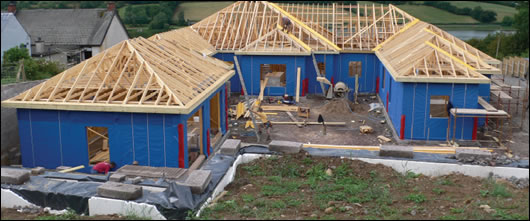 a 420m2 timber frame home being built by Ecotec in Dungannon, Co. Tyrone