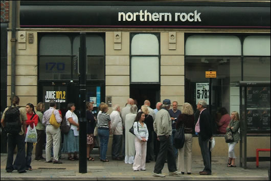It is possible that if Irish banks get into financial difficulties and are unable to attract investors, then we could see a similar situation to Northern Rock occurring, with the prospect of runs on Irish banks very real