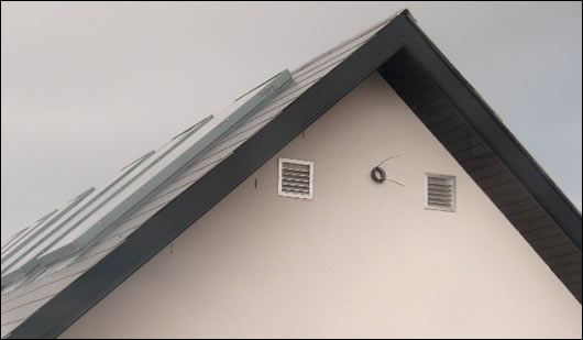 Solar collectors are linked into the heating system