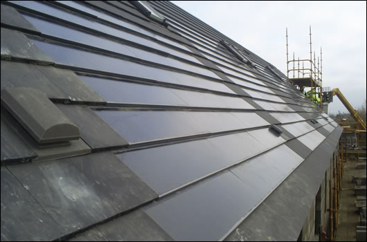 Solarcentury PV tiles at Inch Environmental Construction's Callan development