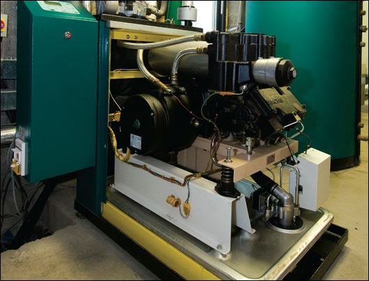 A micro-CHP unit – seen here with its case off