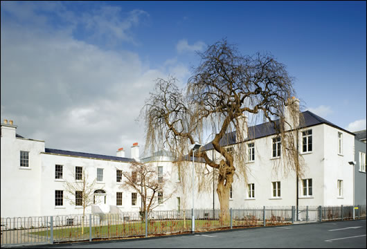 Historic buildings at St Anne's were re-rendered using a lime-based render