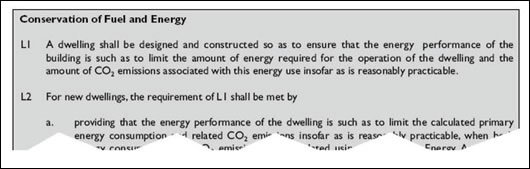 Figure 2: extract from pg. 5 of Technical Guidance Document L (2007)