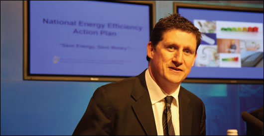 Energy minister Eamon Ryan TD at the launch on the National Energy Efficiency Action Plan in May. The plan includes commitments to have green procurement guidelines in place this year
