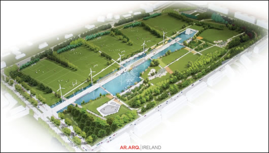The plan for the park designed by Argentinian architects Abelleyro & Romero