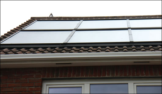 Heating specialists Biothermal supplied and installed 15m sq of flat plate solar panels