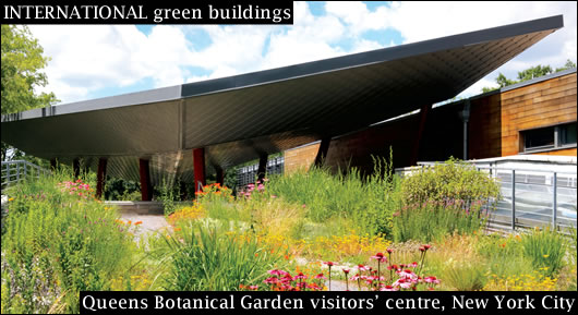 Queens Botanical Garden visitors' centre, New York City