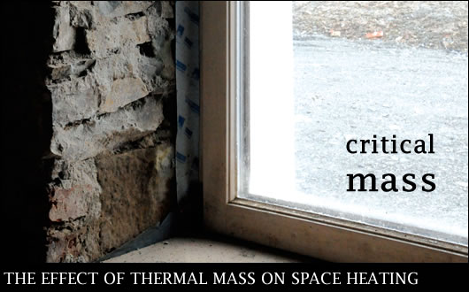 Thermal mass can significantly influence a building's space heating requirement – in some cases the effect is to increase it, and in others to reduce it. Leading energy consultant Ciaran King of Emerald Energy explains how this occurs, and by describing an assessment of the topic, provides some rules of thumb regarding when thermal mass may be beneficial, and when it may be detrimental.