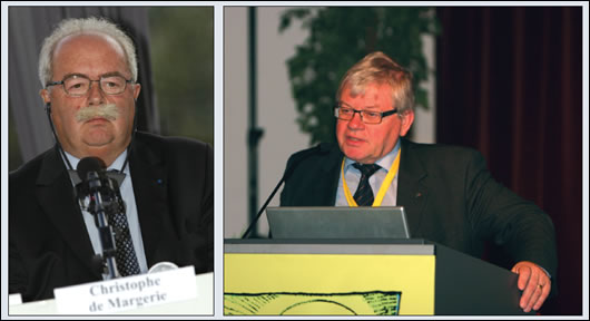 (left) Total chief executive Christophe de Margerie; (right) Kjell Aleklett, co-founder, along with Colin Campbell, of ASPO, the Association for the Study of Peak Oil