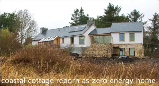 Coastal cottage reborn as zero energy home