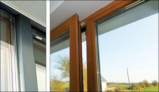 Supplied by Eco Glaze, the windows are the Edition range from Internorm. They are triple-glazed, spruce alu-clad windows which incorporate foam insulation on the inside