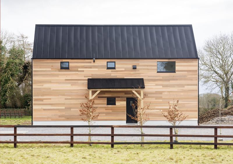 Oak frame passive house