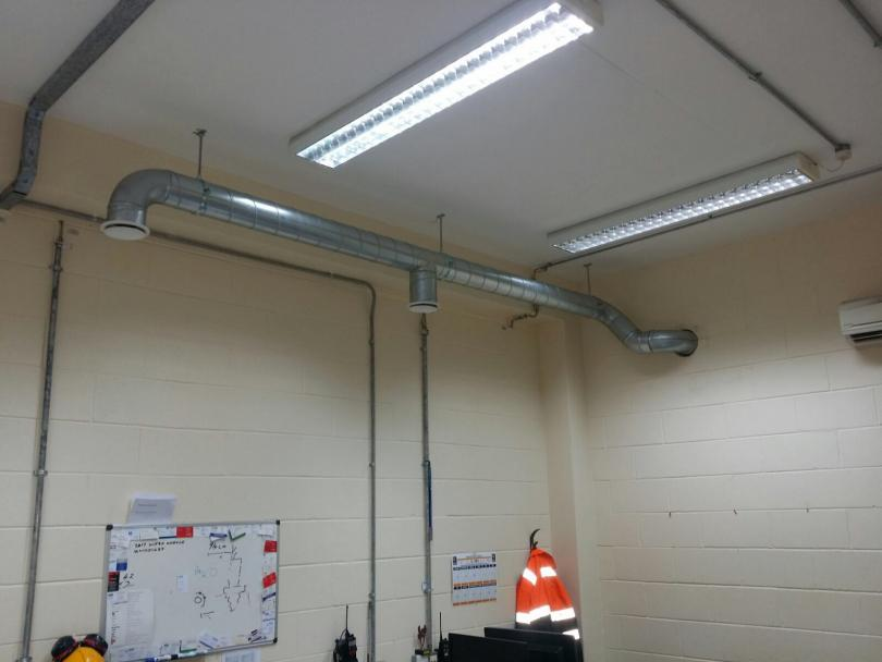 Commercial Ventilation in Irish Utility Company
