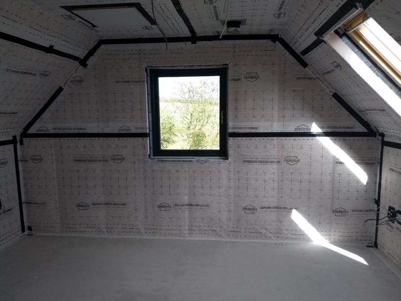 Air Tightness - consultation, supply & testing for a timber frame house in North Kerry