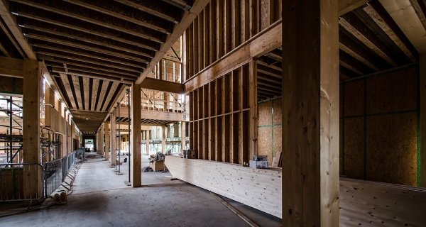 Cygnum's precision timber engineering at the Architype-designed UEA Enterprise Building, which was recently proposed by Treehugger.com managing editor Lloyd Alter as perhaps the greenest building in the world
