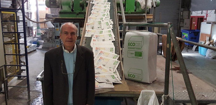 Ecocel director John Egan at the company's Cork City-based manufacturing plant