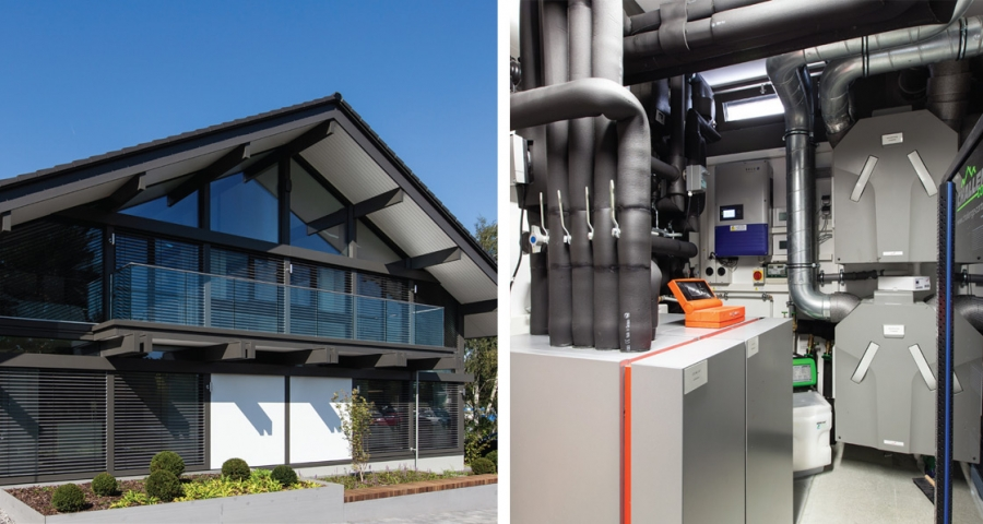 viessmann installs ice store heating system in huf haus. Black Bedroom Furniture Sets. Home Design Ideas
