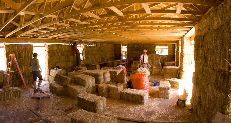 Learn to build with straw bale at Rock Farm, Meath