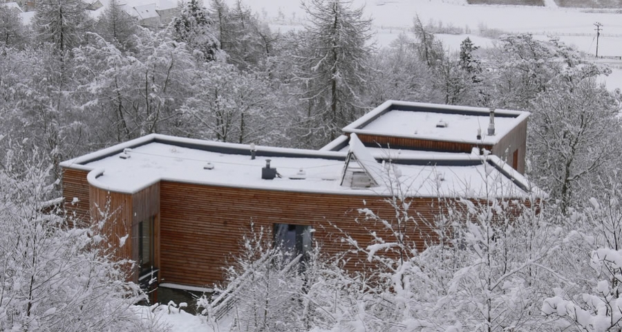 Timber house in Scottish Borders built without nails or glue
