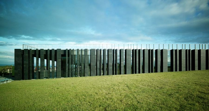 Heneghan Peng's Giants Causeway Visitor Centre, one of the six finalists for the 2013 RIBA Stirling Prize
