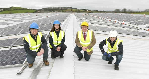 Kingspan installs Ireland's largest solar PV array