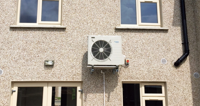 Broomhall Development's new A3 rated homes in Kirvin Hill feature a range of energy saving measures including Daikin Altherma heat pumps
